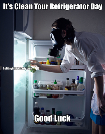 It's Clean Your Refrigerator Day Good Luck