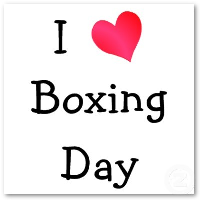 I love Boxing Day