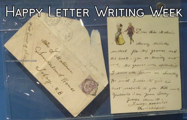 Happy Letter Writing Week