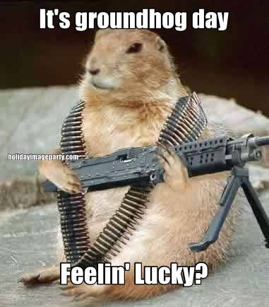 It's groundhog day Feelin' Lucky?
