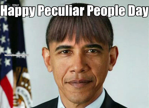 Happy Peculiar People Day