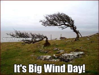 It's Big Wind Day!