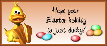 Hope your Easter holiday is just ducky!
