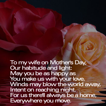 To my wife on Mother's Day