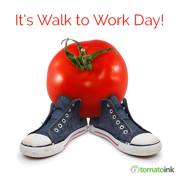 It's Walk to Work Day