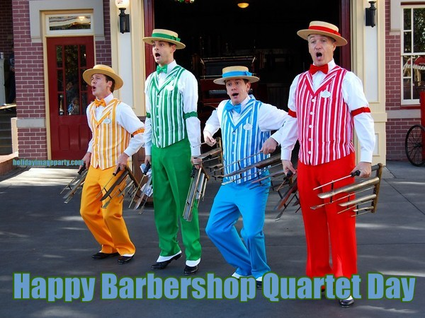 Happy Barbershop Quartet Day
