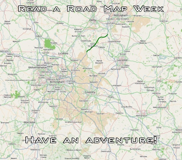 Read a Road Map Week Have an adventure!