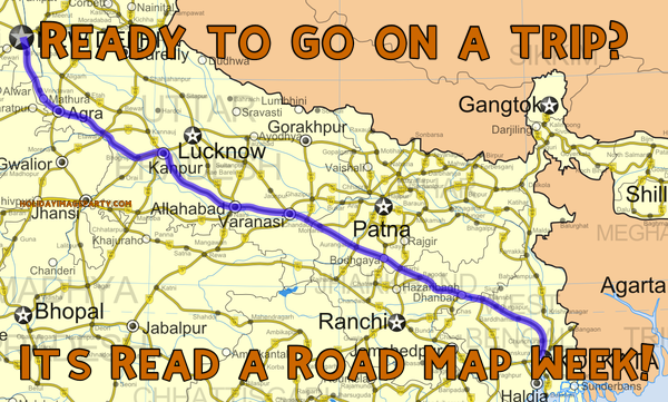 Ready to go on a trip? It's Read a Road Map Week!