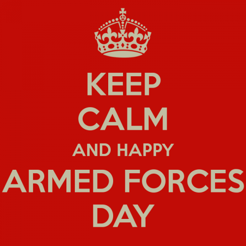Keep calm and happy armed forces day