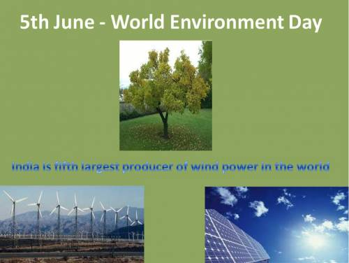 5th June - World Environment Day