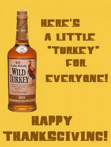 Happy Thanksgiving Wild Turkey