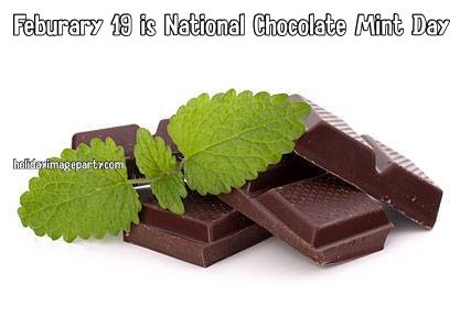 Feburary 19 is National Chocolate Mint Day