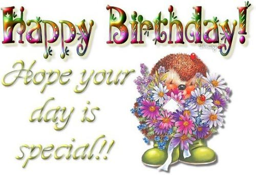 Happy Birthday! Hope your day is special!!