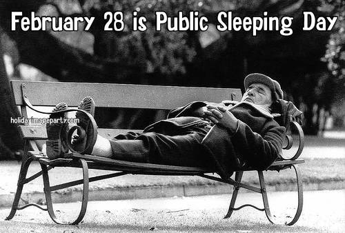 February 28 is Public Sleeping Day