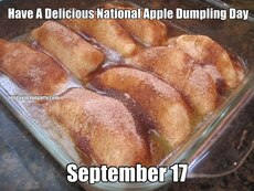 Have A Delicious National Apple Dumpling Day September 17