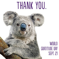 Thank You. World Gratitude Day Sept 21