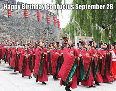 Happy Birthday Confucius September 28