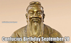 Confucius Birthday September 28