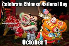 Celebrate Chinese National Day October 1