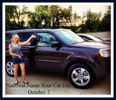 National name your car day October 2