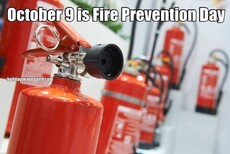 October 9 is Fire Prevention Day