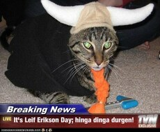 It's Leif Erikson Day