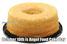 October 10th is Angel Food Cake Day