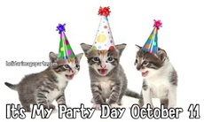 It's My Party Day October 11