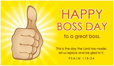 Happy boss day to a great boss
