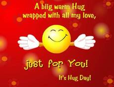 It's hug day!