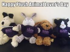 Happy Plush Animal Lover's Day