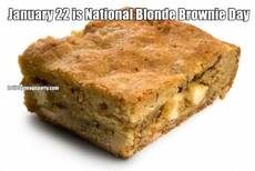 January 22 is National Blonde Brownie Day
