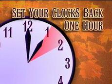Set your clocks back one hour