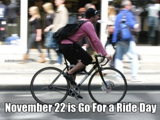 November 22 is Go For a Ride Day