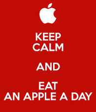 Keep calm and eat an apple day