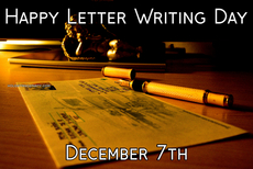 Happy Letter Writing Day December 7th