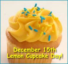 December 15th Lemon Cupcake Day