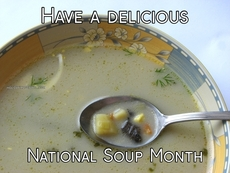 Have a delicious National Soup Month