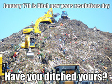 January 17th is Ditch new years resolutions day Have you ditched yours?