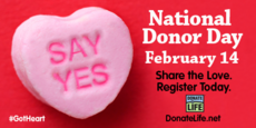 National Donor Day February 14