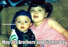 May 2 is Brothers and Sisters Day