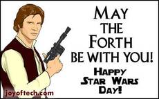 May the forth be with you