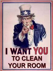I want you to clean your room