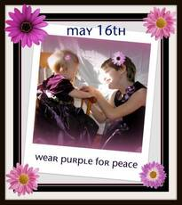 May 16th Wear Purple For Peace