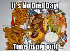 It's No Diet Day! Time to pig out!