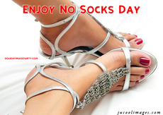 Enjoy No Socks Day