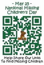 May 25 National Missing Children's Day