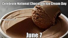 Celebrate National Chocolate Ice Cream Day June 7