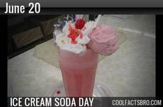 June 20 Ice Cream Soda Day