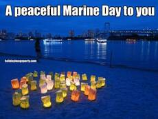 A peaceful Marine Day to you